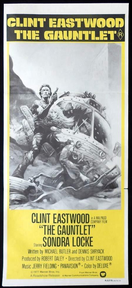 THE GAUNTLET Original Daybill Movie Poster Clint Eastwood Sondra Locke