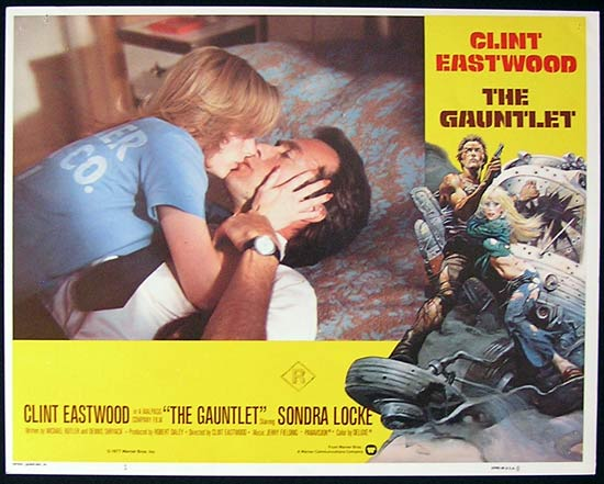 THE GAUNTLET 1977 Clint Eastwood Lobby card 1