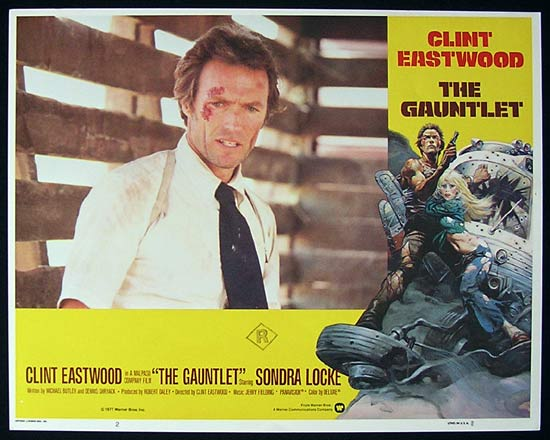 THE GAUNTLET 1977 Clint Eastwood Lobby card 2