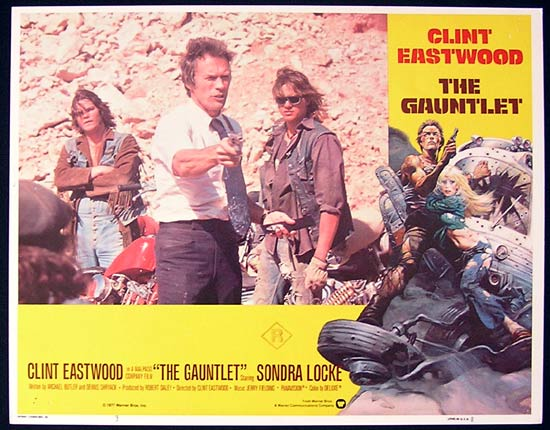 THE GAUNTLET 1977 Clint Eastwood Lobby card 3