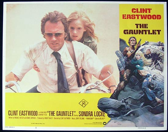THE GAUNTLET 1977 Clint Eastwood Lobby card 4