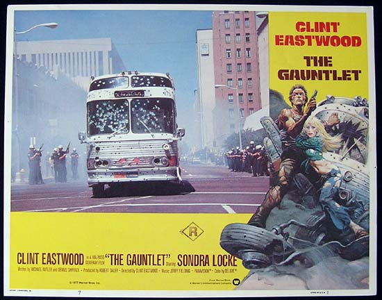 THE GAUNTLET 1977 Clint Eastwood Lobby card 7