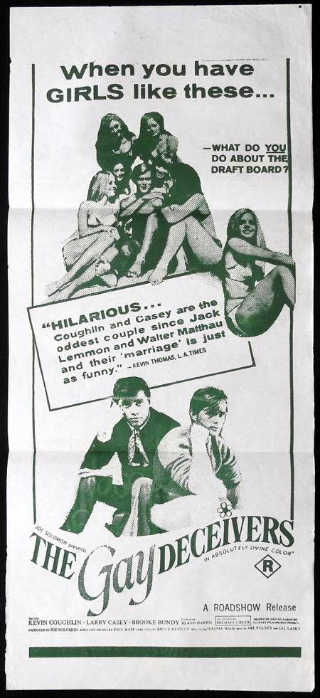 THE GAY DECEIVERS Original Daybill Movie Poster Kevin Coughlin Brooke Bundy Lawrence P. Casey