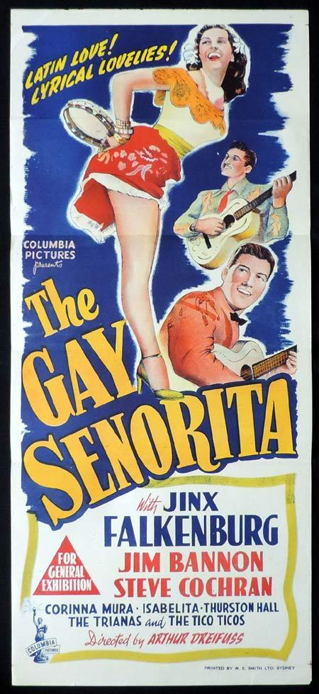 THE GAY SENORITA Original Daybill Movie Poster Jinx Falkenburg