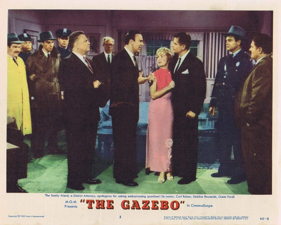 THE GAZEBO Lobby Card 3 Glenn Ford Debbie Reynolds Carl Reiner