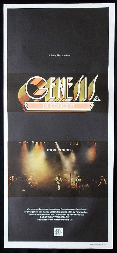 GENESIS IN CONCERT Original Daybill Movie Poster Phil Collins Tony Banks