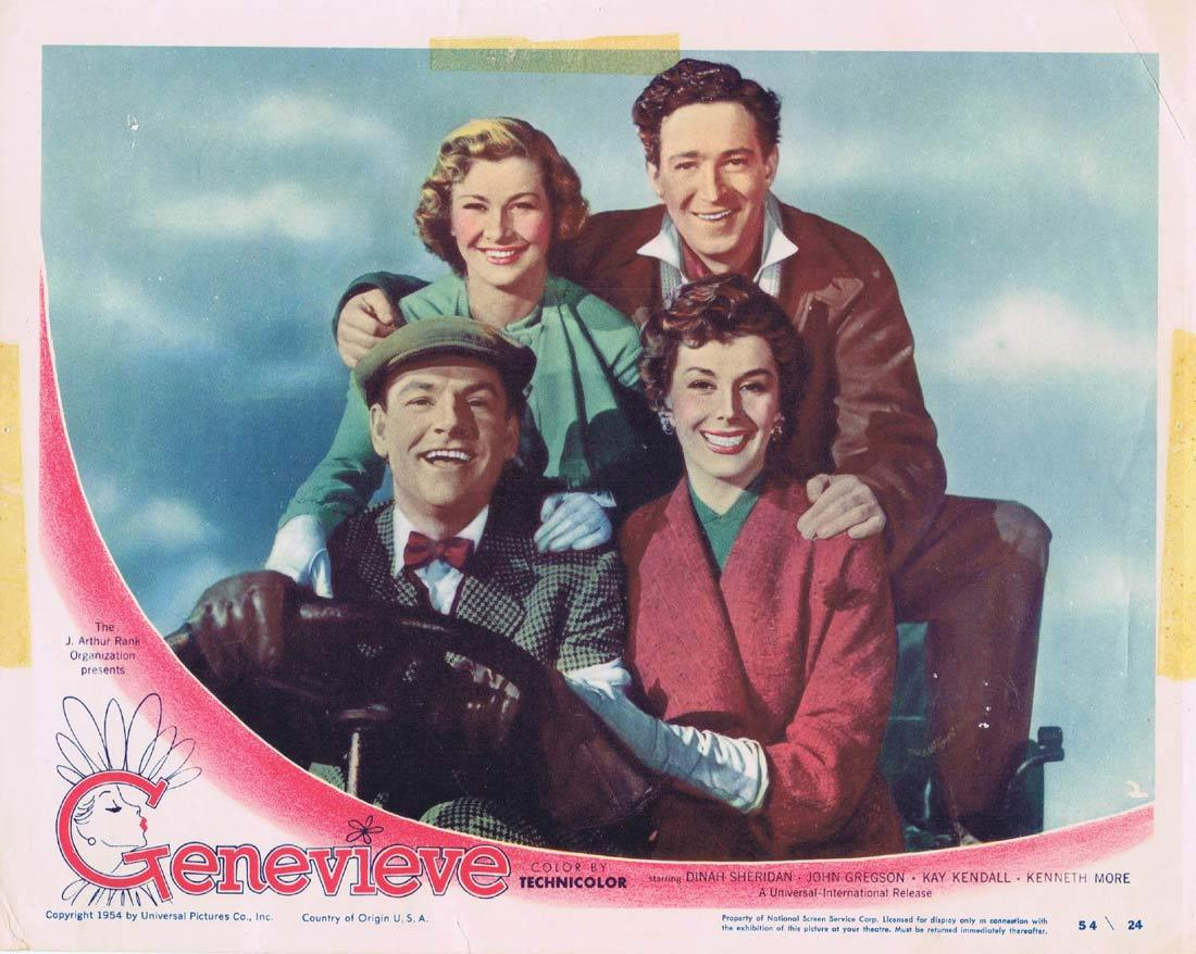 GENEVIEVE Original Lobby Card 2 John Gregson Kay Kendall Kenneth More