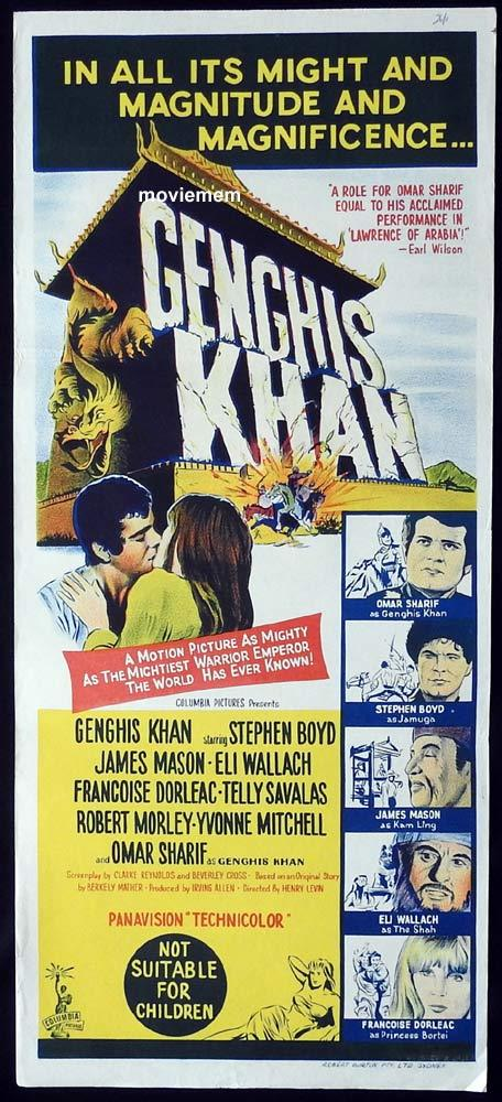 GENGHIS KHAN Original Daybill Movie Poster Stephen Boyd Omar Sharif James Mason