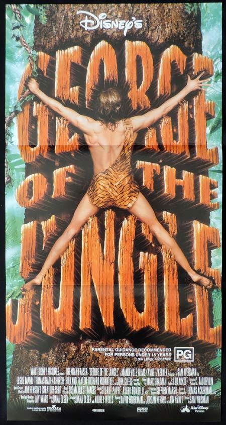 GEORGE OF THE JUNGLE Daybill Movie poster Brendan Fraser Disney