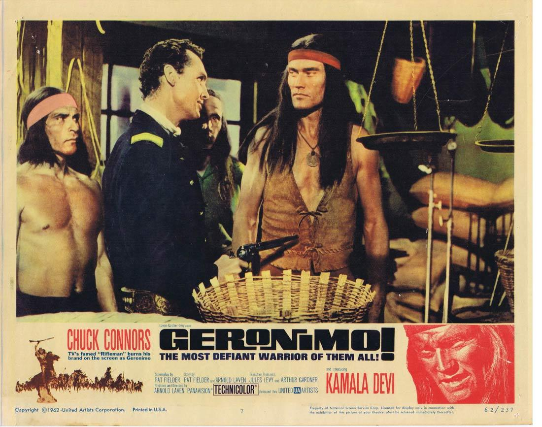 GERONIMO Lobby Card 7 Chuck Connors Adam West Denver Pyle