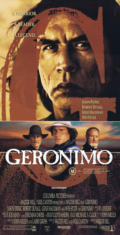 GERONIMO Original Daybill Movie Poster Jason Patric Gene Hackman