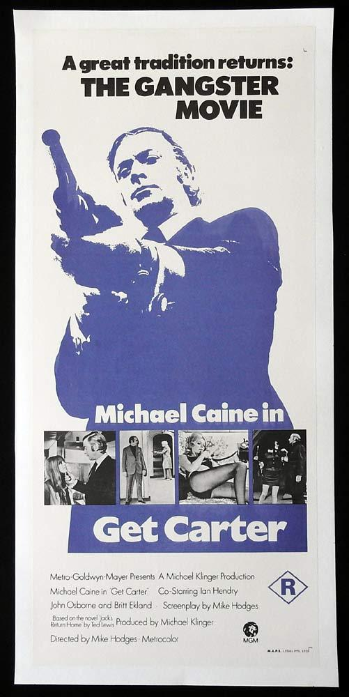 GET CARTER Original LINEN BACKED Daybill Movie Poster Michael Caine