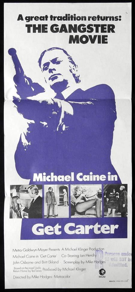GET CARTER Original daybill Movie Poster MICHAEL CAINE Ian Hendry
