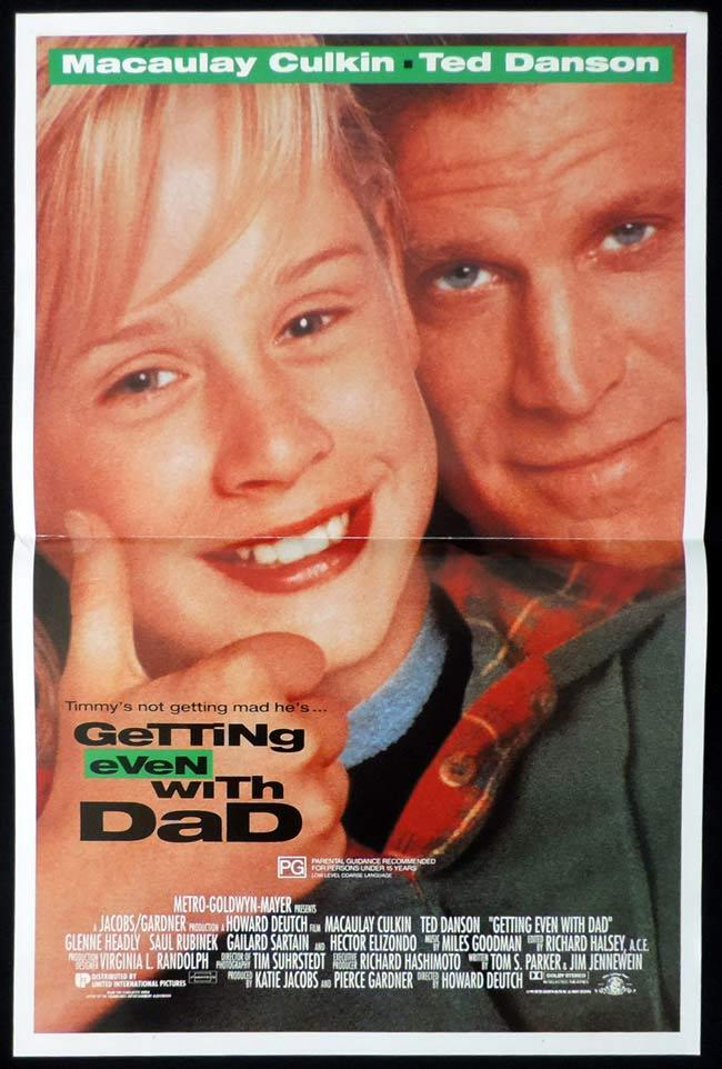 GETTING EVEN WITH DAD Original Daybill Movie Poster Macaulay Culkin Ted Danson
