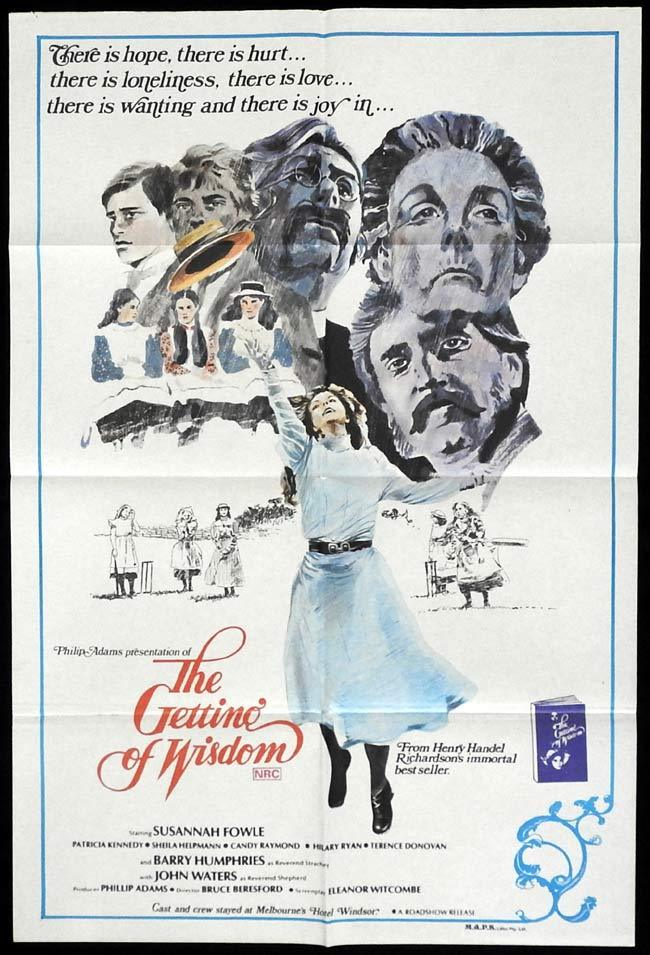 THE GETTING OF WISDOM 1978 Barry Humphries ORIGINAL Bruce Beresford One sheet poster