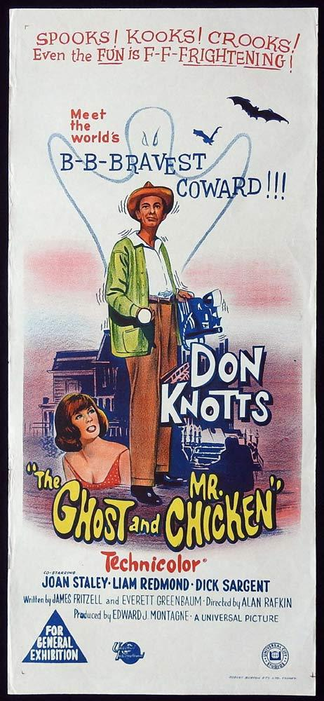 THE GHOST AND MR CHICKEN Original Daybill Movie Poster Don Knotts Joan Staley