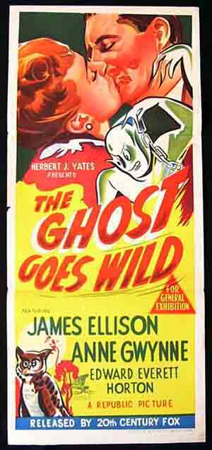 THE GHOST GOES WILD Daybill Movie Poster 1949 James Ellison