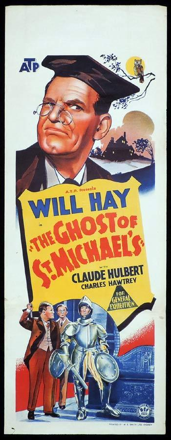 THE GHOST OF ST MICHAEL'S Long Daybill Movie poster Will Hay St Michaels