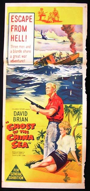 GHOST OF THE CHINA SEA 1958 Daybill Movie Poster David Brian