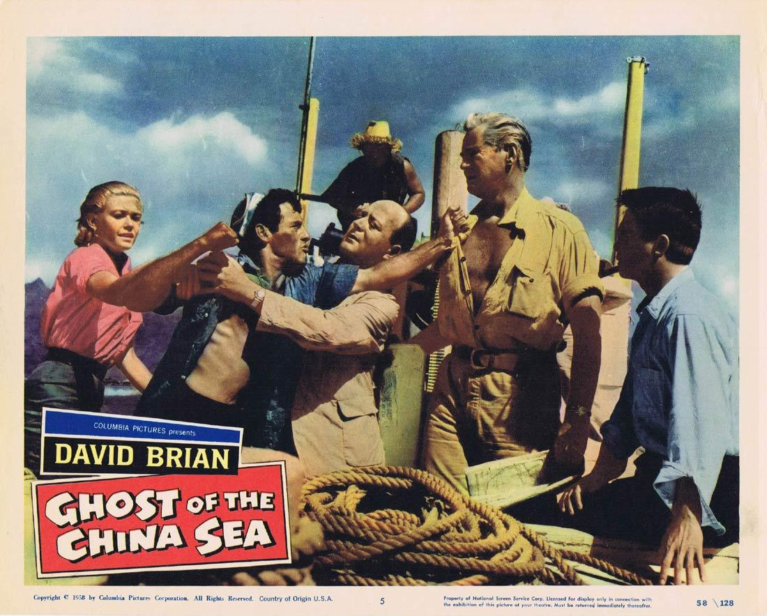 GHOST OF THE CHINA SEA Lobby Card 5 David Brian Lynette Bernay Norman Wright