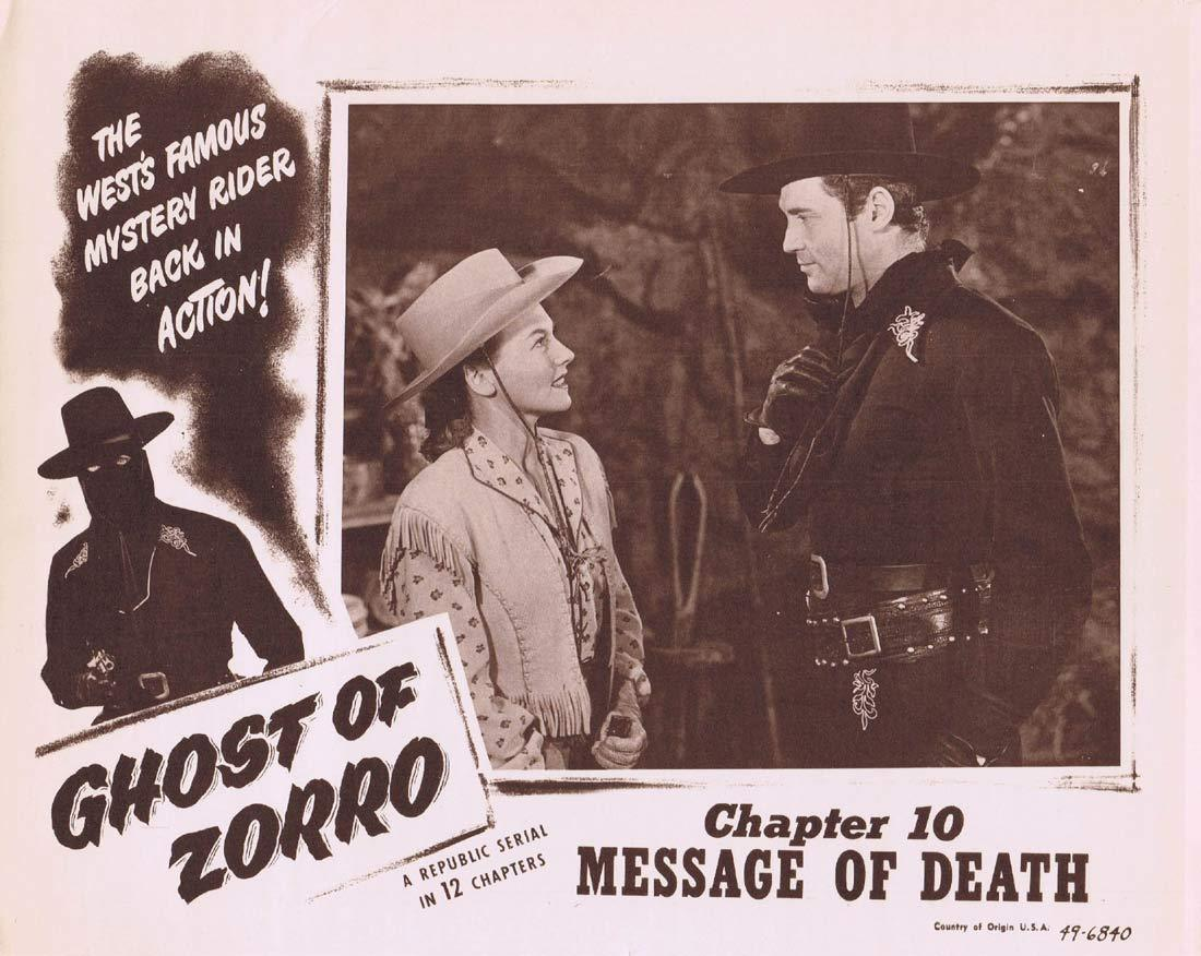GHOST OF ZORRO Original Lobby Card 2 Chapter 10 Republic Serial Clayton Moore