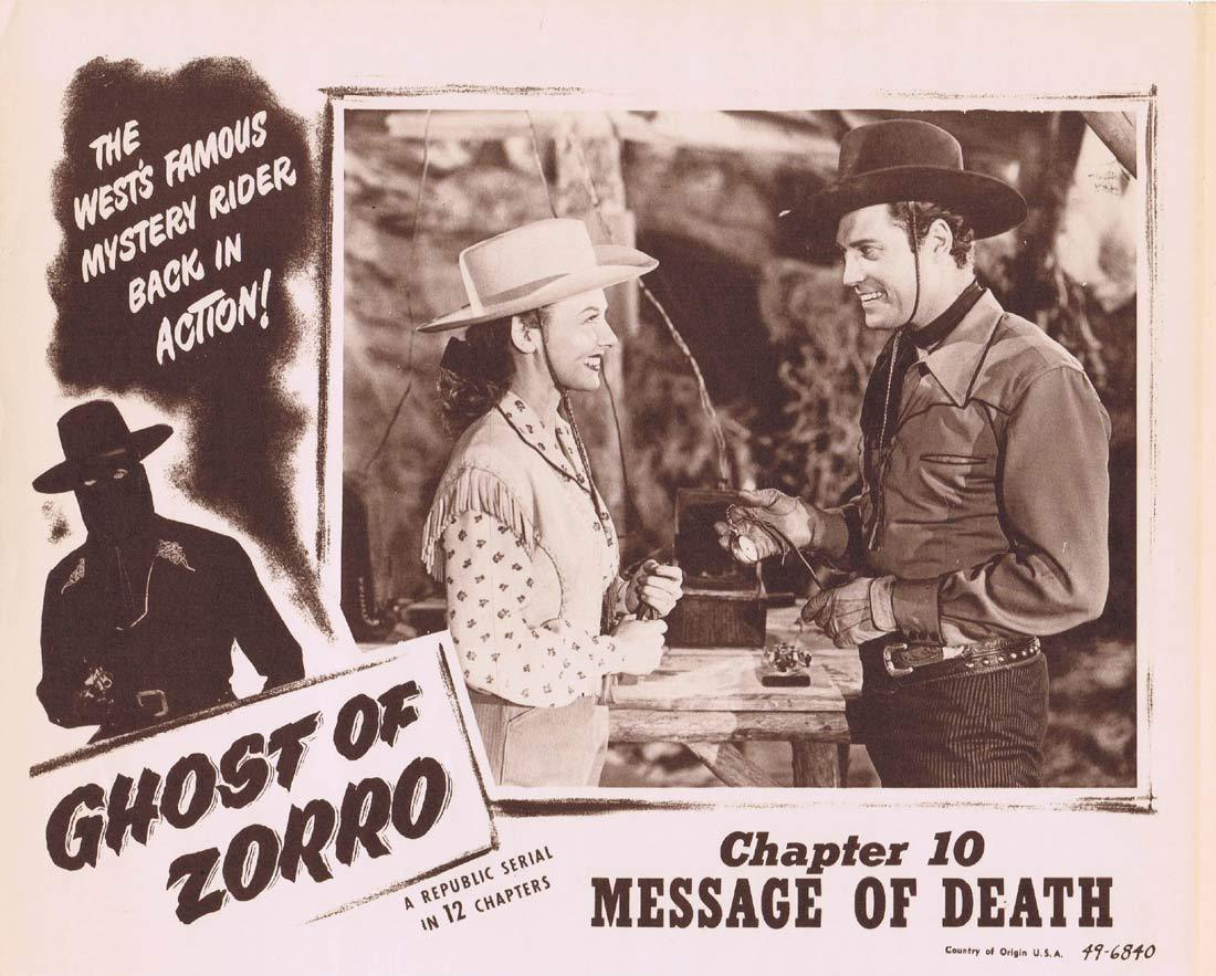 GHOST OF ZORRO Original Lobby Card 4 Chapter 10 Republic Serial Clayton Moore