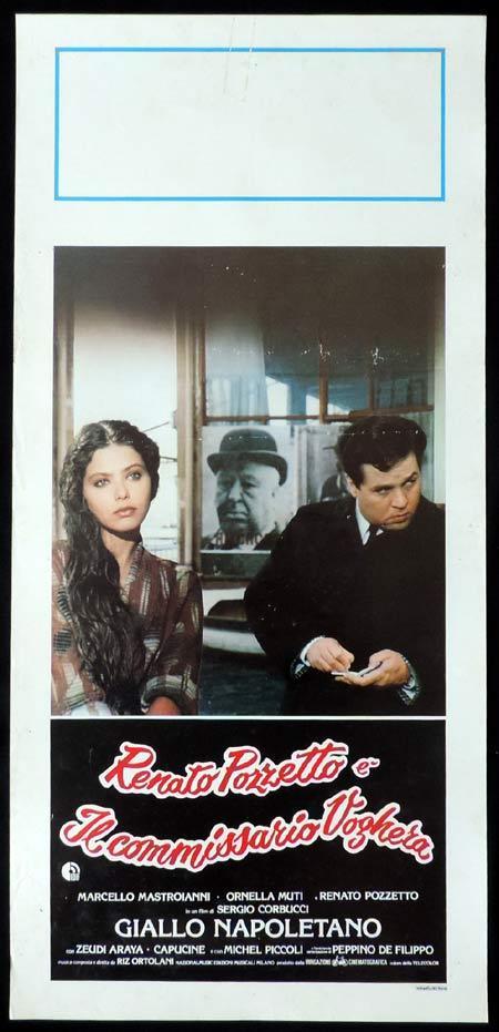 GIALLO NAPOLETANO Italian Locandina Movie Poster Renato Pozzetto Alfred Hitchcock