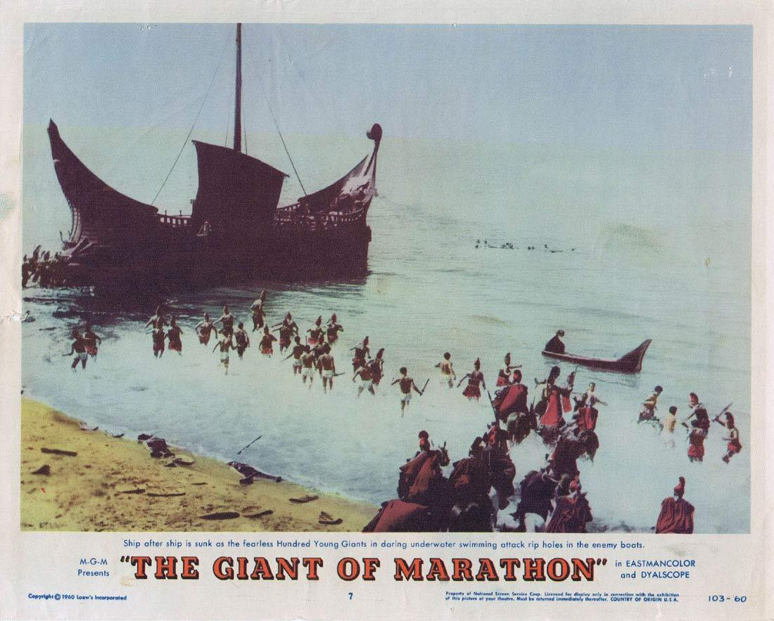 GIANT OF MARATHON Lobby Card 7 Steve Reeves Mylène Demongeot
