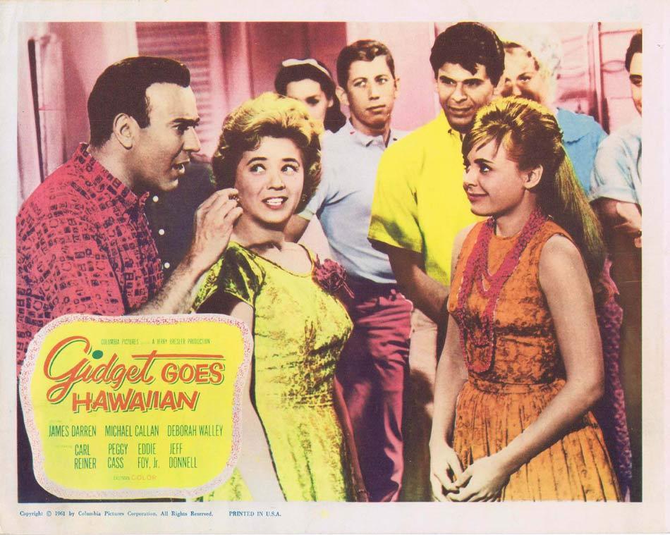 GIDGET GOES HAWAIIAN Lobby Card 2 Deborah Walley Carl Reiner