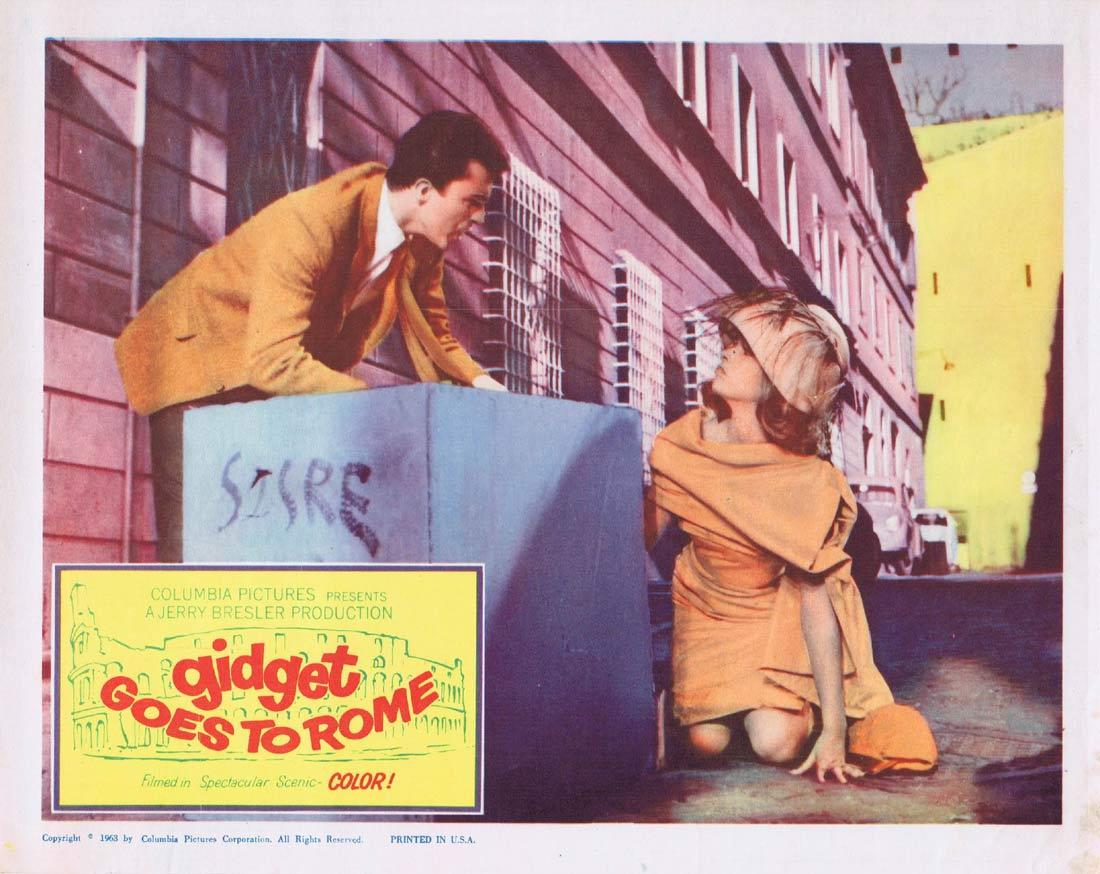 GIDGET GOES TO ROME Original Lobby Card Cindy Carol James Darren