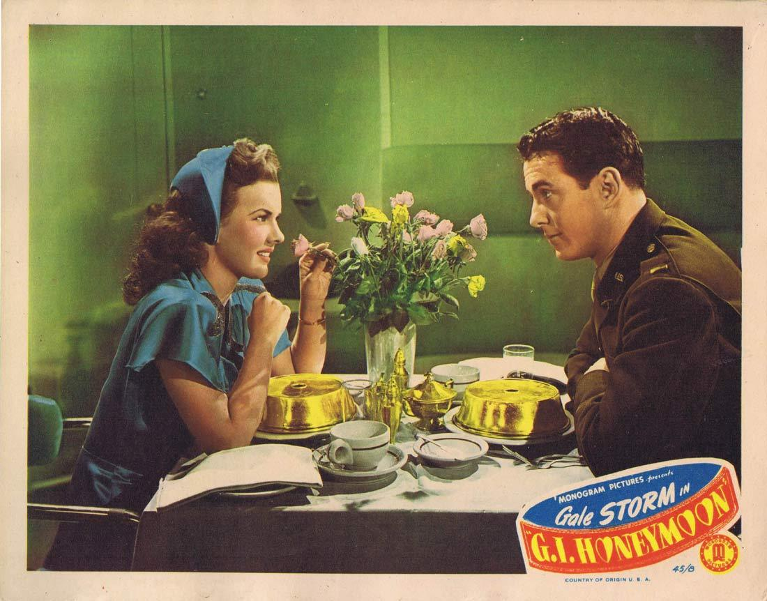 GI HONEYMOON Original Lobby Card Gale Storm Peter Cookson 1945