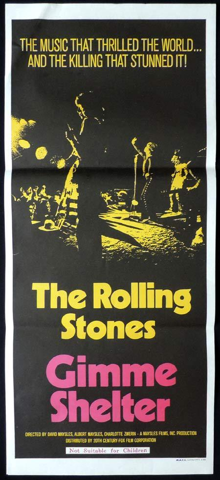 GIMME SHELTER Original Daybill Movie poster The Rolling Stones
