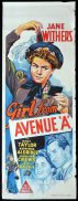GIRL FROM AVENUE A Long Daybill Movie poster 1940 Jane Withers