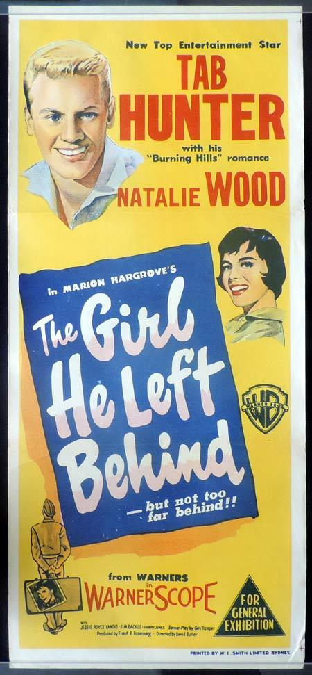THE GIRL HE LEFT BEHIND Daybill Movie Poster Natalie Wood