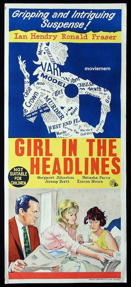 GIRL IN THE HEADLINES Original Daybill Movie Poster Ian Hendry Ronald Fraser