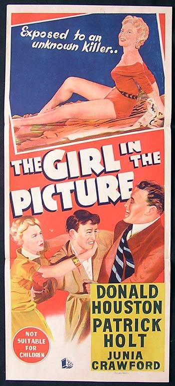 THE GIRL IN THE PICTURE Original Daybill Movie Poster 1957 Donald Houston Film Noir