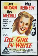 THE GIRL IN WHITE Original One sheet Movie Poster June Allyson Gary Merrill