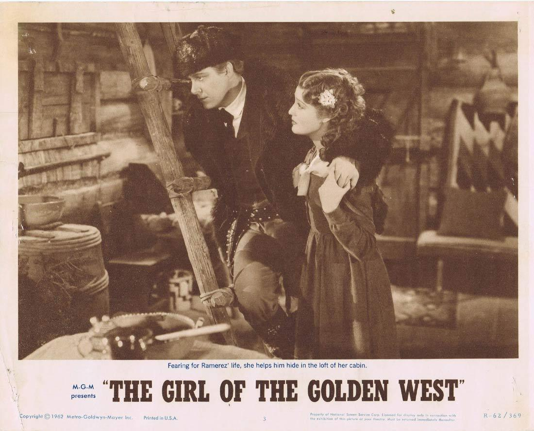 THE GIRL OF THE GOLDEN WEST Lobby Card 3 Jeanette MacDonald Nelson Eddy Walter Pidgeon 1962r