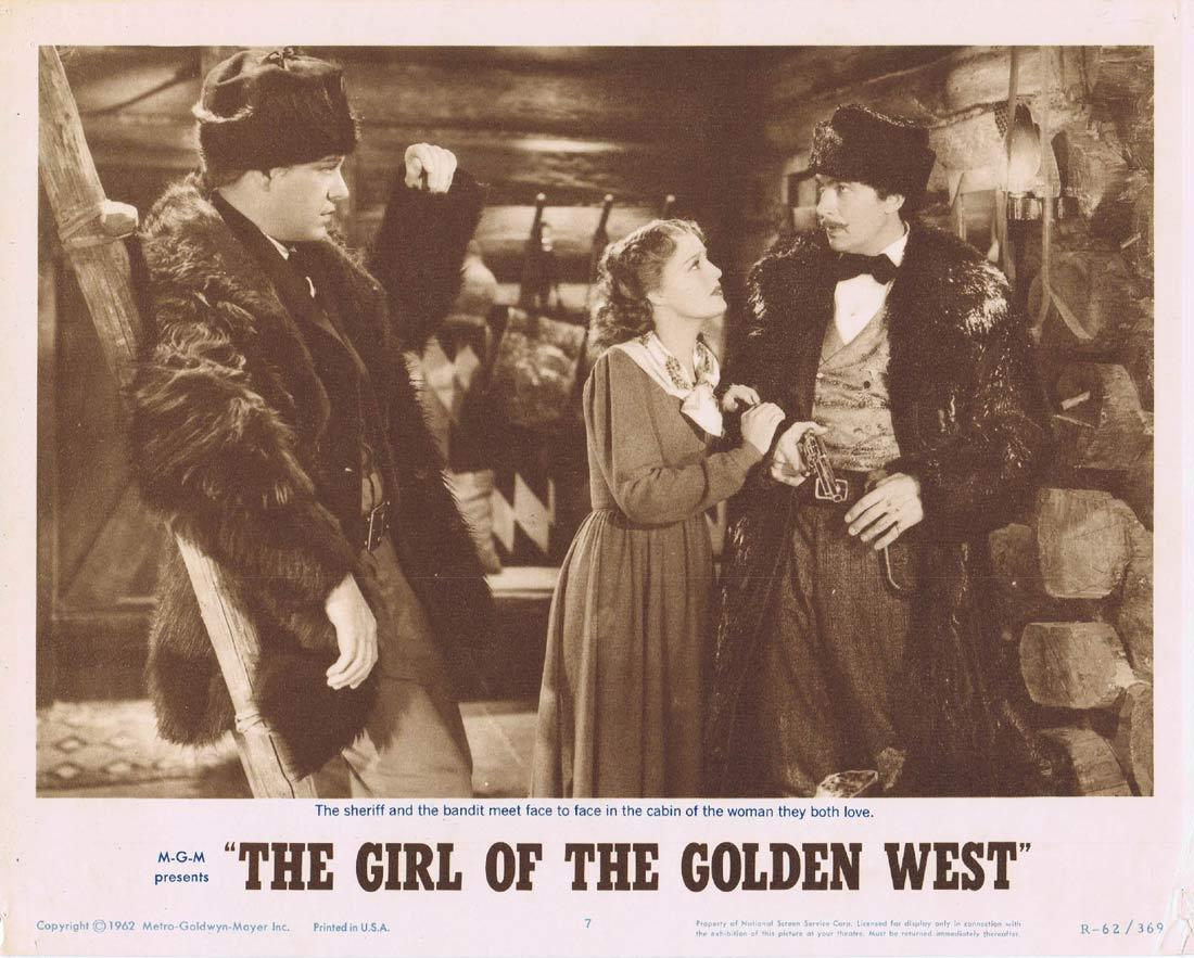 THE GIRL OF THE GOLDEN WEST Lobby Card 7 Jeanette MacDonald Nelson Eddy Walter Pidgeon 1962r