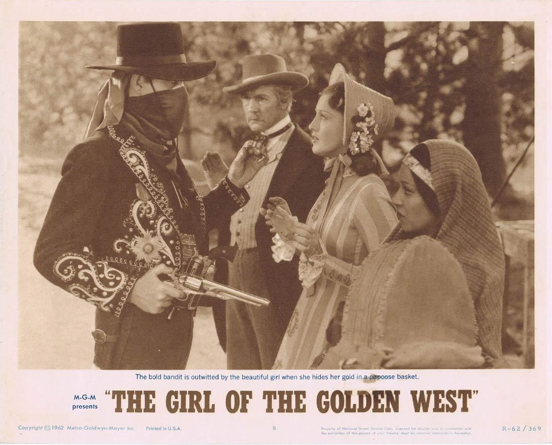 THE GIRL OF THE GOLDEN WEST Lobby Card 8 Jeanette MacDonald Nelson Eddy Walter Pidgeon 1962r
