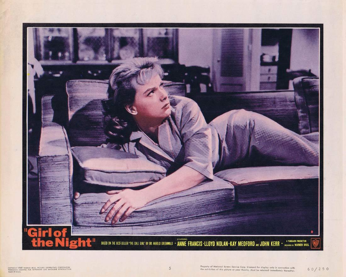 GIRL OF THE NIGHT Lobby Card 5 Stars: Anne Francis Lloyd Nolan Kay Medford