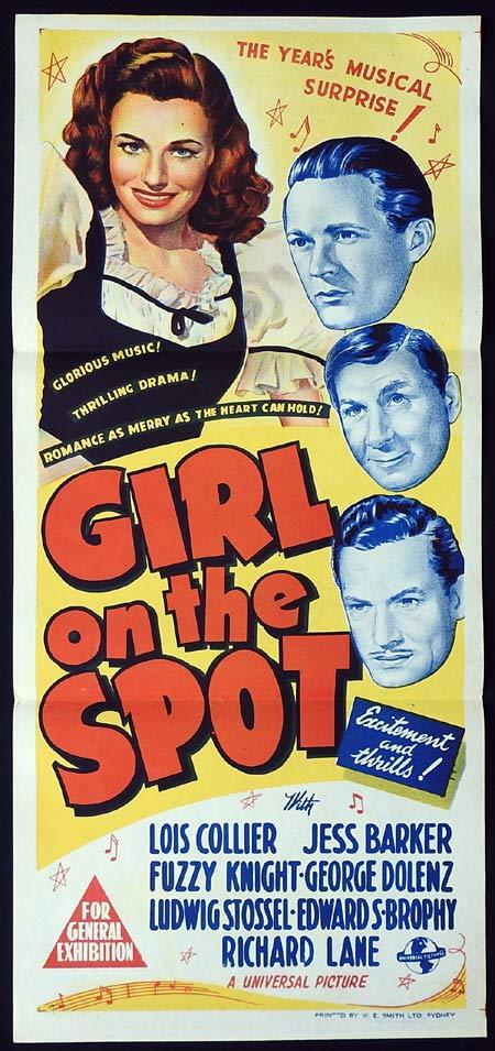 GIRL ON THE SPOT Original Daybill Movie Poster Lois Collier 1946