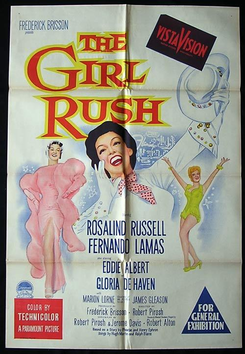 THE GIRL RUSH One Sheet Movie ROSALIND RUSSELL Musical
