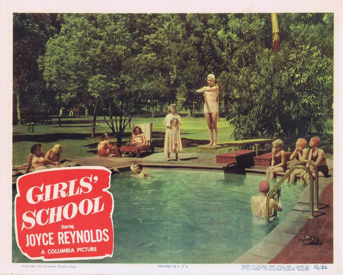 GIRLS SCHOOL Lobby Card Joyce Reynolds Ross Ford Kasey Rogers