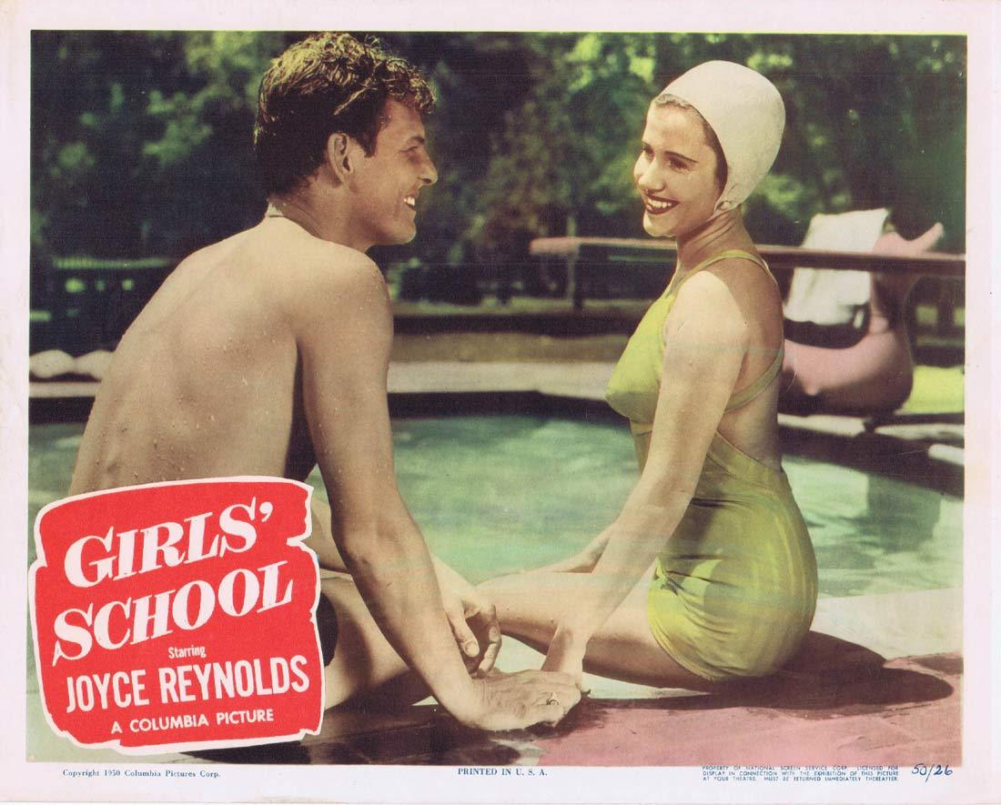 GIRLS SCHOOL Original Lobby Card Ross Ford Joyce Reynolds