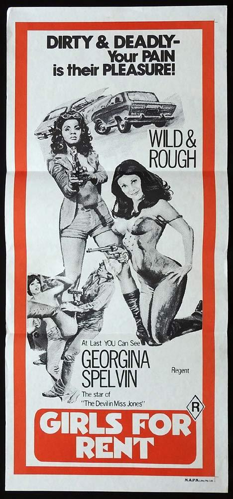 GIRLS FOR RENT Original Daybill Movie Poster Georgina Spelvin Susie Ewing