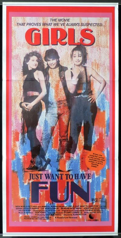 GIRLS JUST WANT TO HAVE FUN Daybill Movie poster Sarah Jessica Parker
