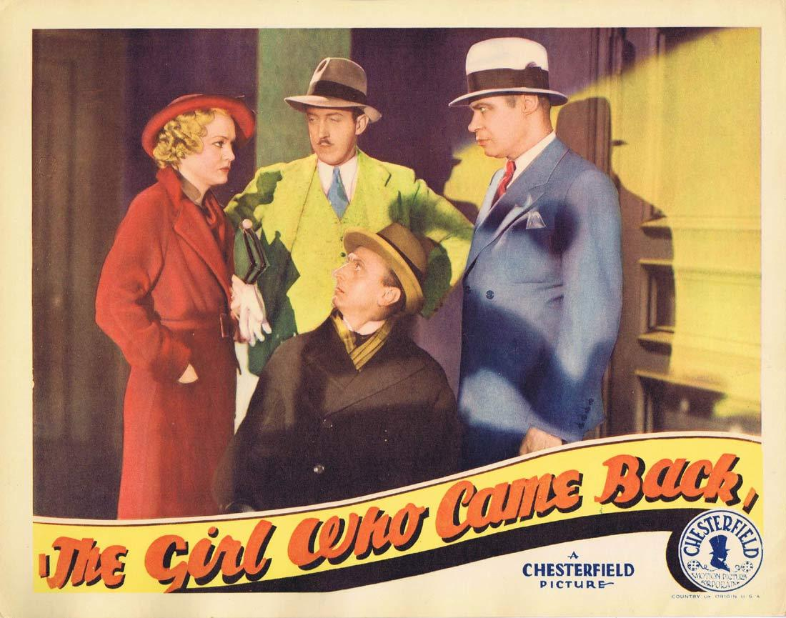 THE GIRL WHO CAME BACK Original Lobby Card 2 Shirley Grey Sidney Blackmer Noel Madison