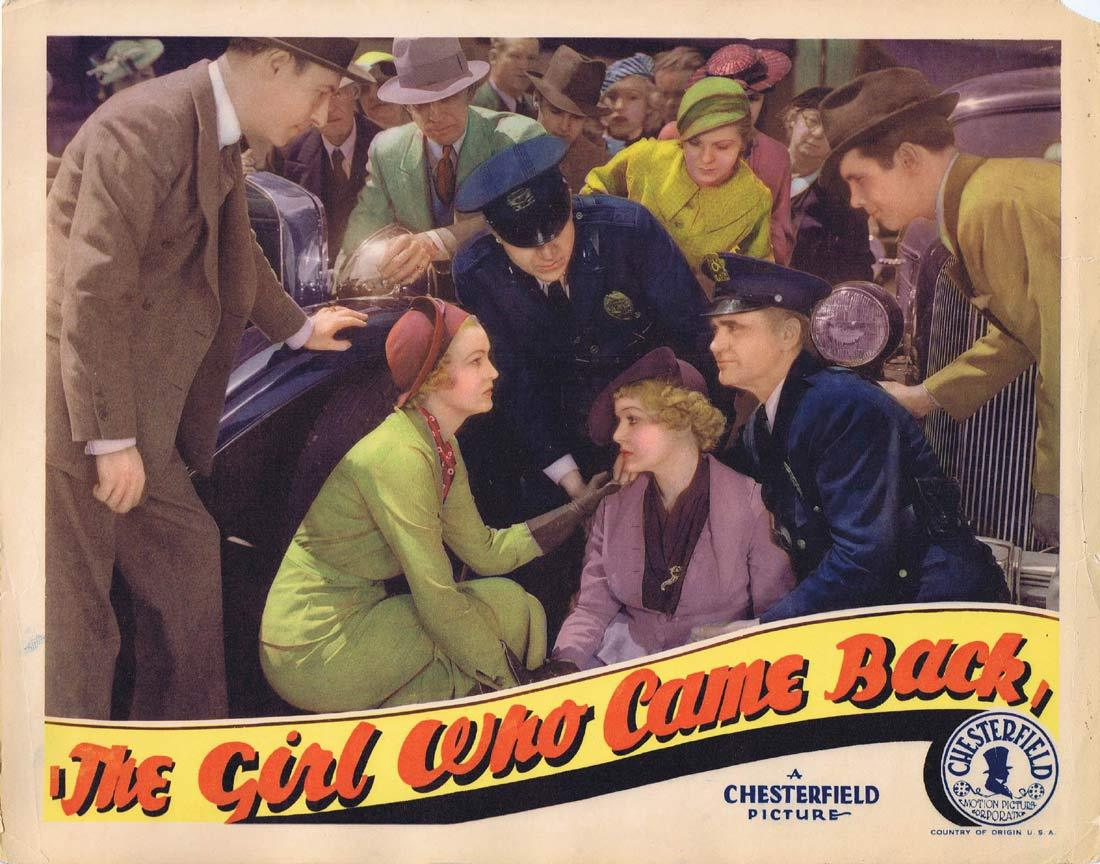 THE GIRL WHO CAME BACK Original Lobby Card 3 Shirley Grey Sidney Blackmer Noel Madison