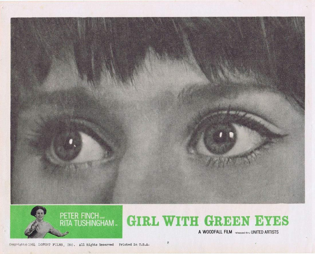 THE GIRL WITH THE GREEN EYES 1964 Peter Finch Rita Tushingham Lobby Card